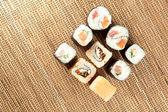 Rolls of sushi — Stock Photo