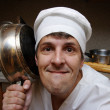Scary cook on kitchen — Stock Photo #1731349