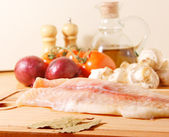 Raw fillet of a sea fish — Stock Photo