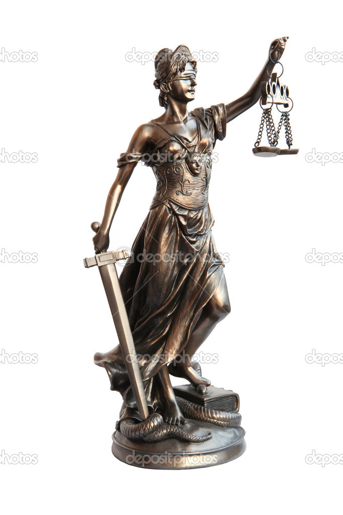 Lady of Justice on white background  — Stock Photo #1752961