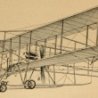 Early flying machine Retro Illustrations — Stock Photo