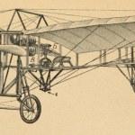 Early flying machine Retro Illustrations — Stock Photo
