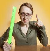 Crazy female teacher — Stock Photo