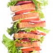 Super sandwich — Stockfoto