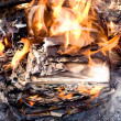 Stock Photo: Burning paper
