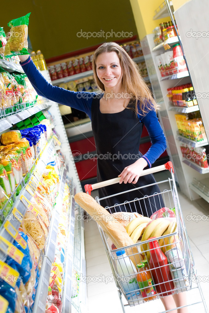 Shopping beautiful woman — Stock Photo #1899432