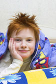 Redheaded happy boy — Stock Photo