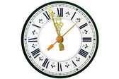 Dial of analog watch — Stock Photo