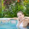 Woman in Jacuzzi — Stock Photo #1594783