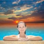 Woman in swimming pool — Stock Photo #1594895