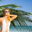 Royalty-Free Stock Photo: Woman on the tropical beach