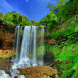 Dambri waterfall — Stock Photo