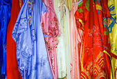 Silk dresses — Stock Photo