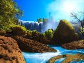 Elephant waterfall — Stock Photo