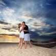 Sunset kiss — Stock Photo
