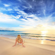 Sunbathing at sunrise — Stock Photo #1635054