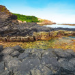 Giant's basalt Causeway. - Stock Photo