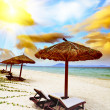 Sandy tropical beach — Stock Photo