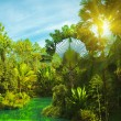 Stock Photo: Lake in deep forest