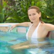 Woman in Jacuzzi — Stock Photo #2564763