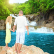 Couple near waterfall — Stock Photo #2567801