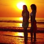Sunrise woman — Stock Photo
