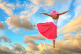 在天空中跳舞 — 图库照片
