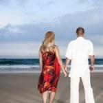 Beach dancing — Stock Photo