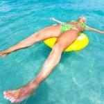 Woman in an ocean — Stock Photo #2570999