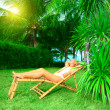 Woman sunbathing — Stock Photo #2574766