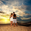 Romantic sunrise - Stock Photo
