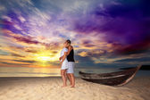 Romantic sunrise — Foto Stock