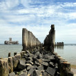 Stock Photo: Breakwater