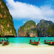 Tropical beach, Maya Bay, Thailand - Stock Photo