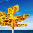 Signpost, New Zealand - Stock Photo