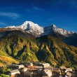 villaggio dell'Himalaya, nepal — Foto Stock