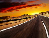 Road in desert — Foto Stock