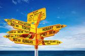Signpost, New Zealand — Stock Photo