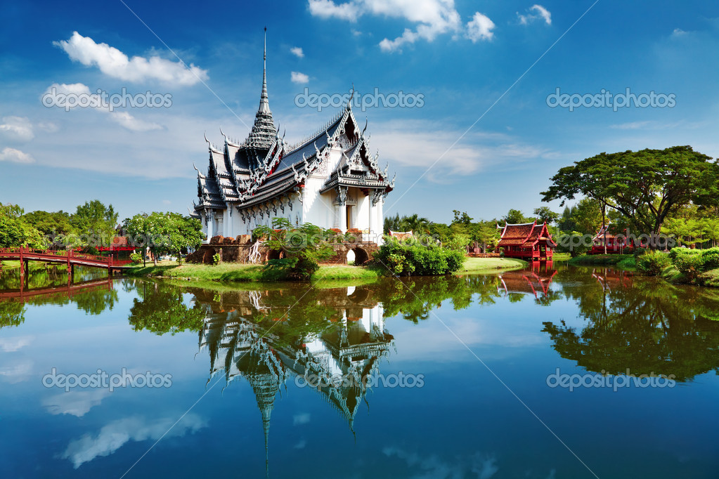 Sanphet Prasat Palace, Ancient City, Bangkok, Thailand  Stock fotografie #1592861