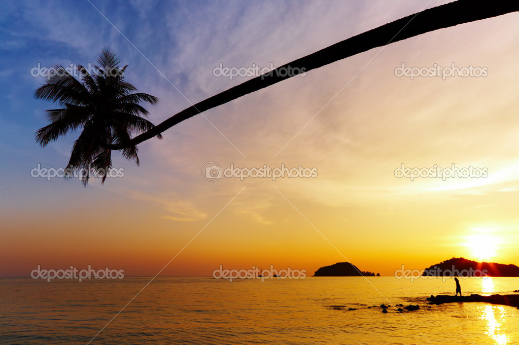 Tropical beach, Mak island, Thailand — Stock Photo #1592911