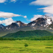 Stock Photo: Mountain panorama