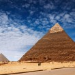 Egyptian pyramids - Stock Photo