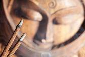 Smoldered sandal-wood incense — Stock Photo