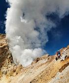 Active volcano — Stock Photo
