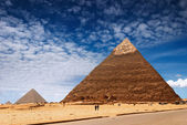 Egyptian pyramids — Stock Photo