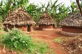 Afrikanische hütten — Stockfoto