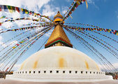 Buddhist temple Bodhnath — Stock Photo