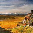 Mountain view, Plateau Ukok — Stock Photo