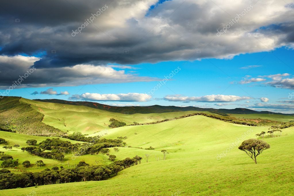 Beautiful landscape at sunset, New Zealand  Foto Stock #1622310