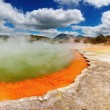 Champagne Pool, hot thermal spring - Stock Photo